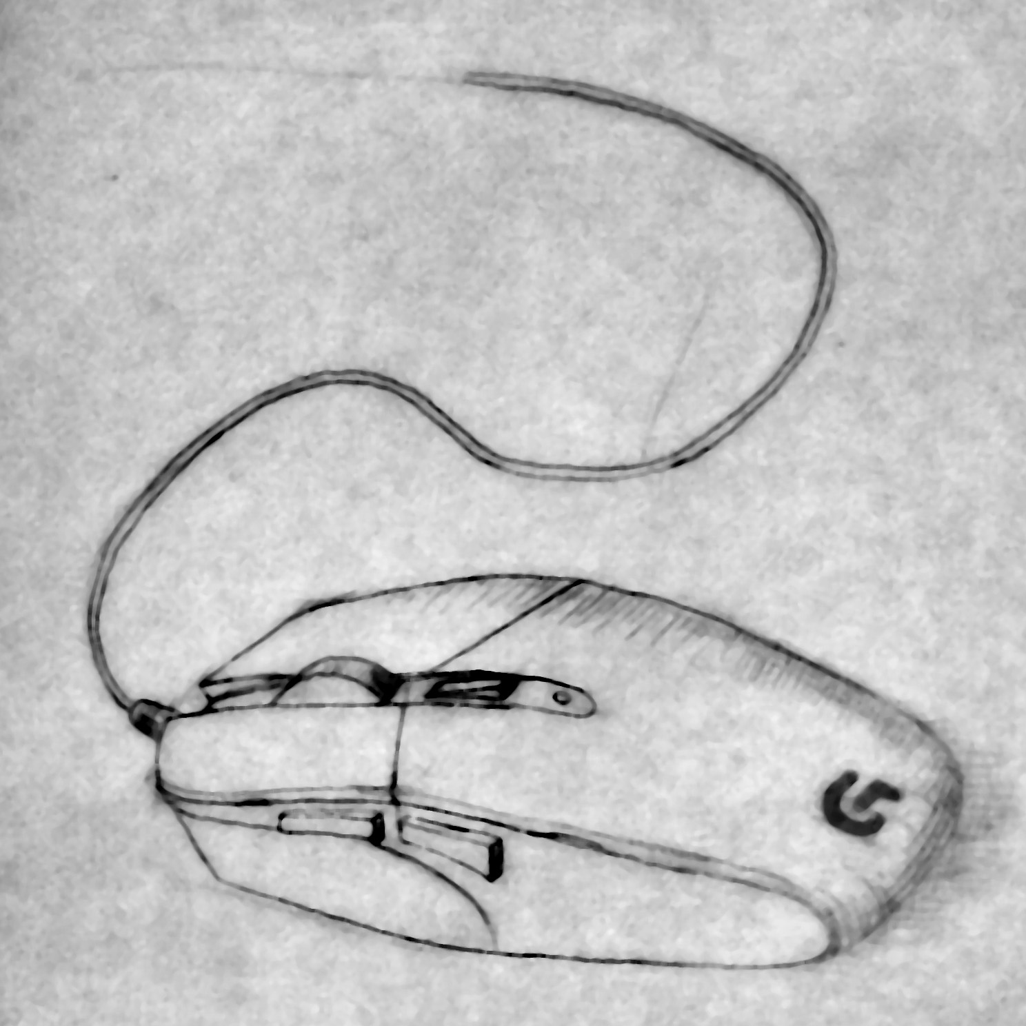 Regular drawing 1 computer mouse brian crick